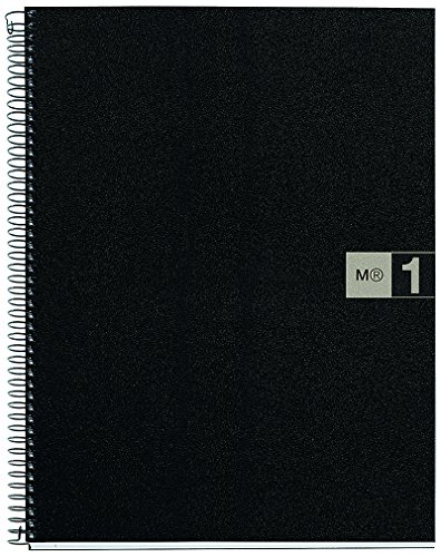 basicos-mr-44067-notebook-1-colour-a4-squared-80-sheets-polypropylene-grey-90-grams