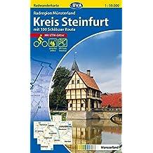 Radwanderkarte BVA Radregion Münsterland Kreis Steinfurt mit 100 Schlösser Route 1:50.000, reiß- und wetterfest, GPS-Tracks Download (Radwanderkarte 1:50.000)