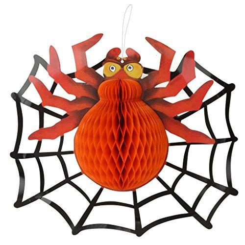 Rote Spinne Mit Web Sites Aufhänger Für Halloween Haunted House Disco Night Bar KTV