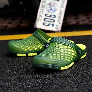 Slippers & amp da uomo;Estate Comfort Hole scarpe leggere suole in microfibra in pelle casual Outdoor sandali US8 / EU40 / UK7 / CN41