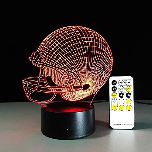 - Team Farbe Ausgestattet Hut (Teams Rugby Hut Fernbedienung Lampe Bunte Note Runde Visuelle Stereo 3D Nachtlicht Für Geschenk)
