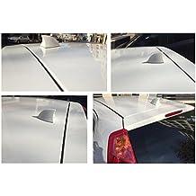 FM/MM – Antena para coche con forma de aleta de tiburón, universal, color blanco (verificar la medida de la antena para coche)