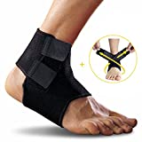 Ankle Support, Yesloo Adjustable and Breathable Ankle Brace with Band, Black