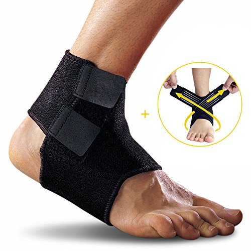 Ankle Support, Yesloo Adjustable and Breathable Ankle Brace with Band, Black Test