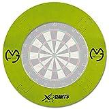 TW24 Surround Ring für Dartboards mit Farbauswahl - Dartscheiben Umrandung - Dart Auffangring (Grün)