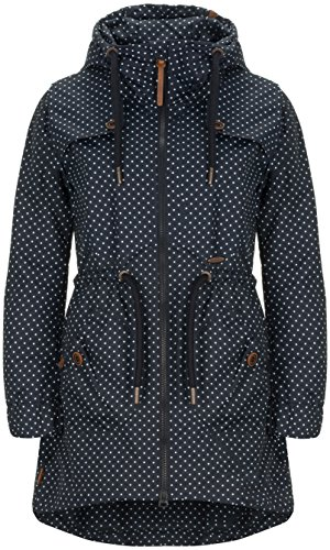 alife & kickin Charlotte A Coat Damen Übergangsjacke, Marine dots, M