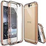 Ringke Funda HTC One A9, Fusion [Rose Gold Crystal] Choque Absorción Funda de Parachoques y...