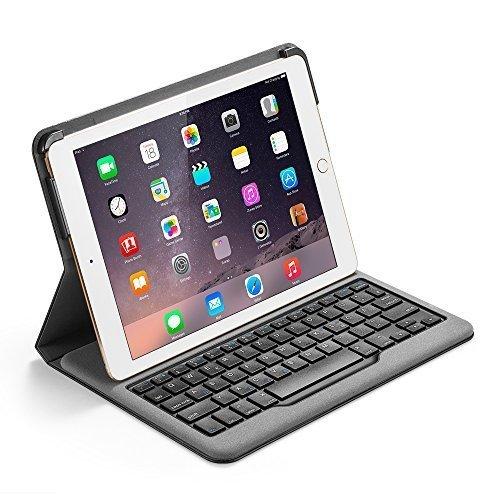 Anker Bluetooth Folio Tastatur Case Hülle für iPad Air 2 — Smart Case mit Auto Wake / Sleep Funktion - 4