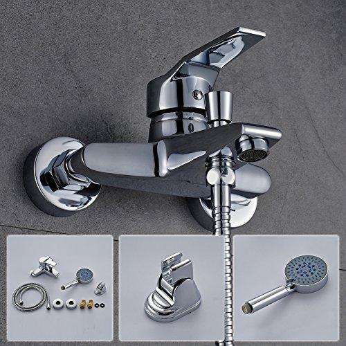 Auralum grifer a de ducha cromado grifo de la ducha de - Grifo de la ducha ...