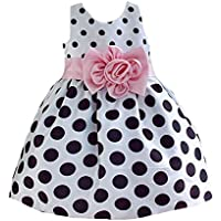DAYAN 2015 New elegante per bambini delle ragazze del bambino principessa Abito senza maniche pois vestito da Bowknot