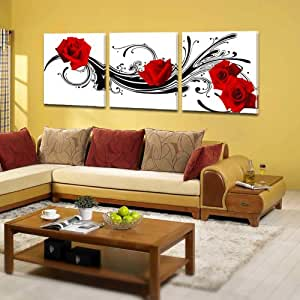 3 malerei ohne rahmen wand deko kunstdruck auf leinwand 50 cm 50 cm d 39 art de wand. Black Bedroom Furniture Sets. Home Design Ideas