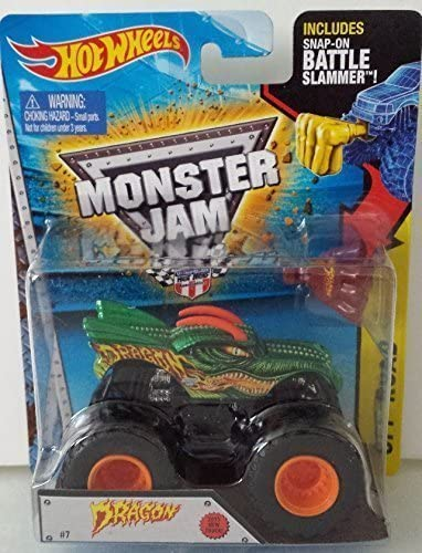 Hot Wheels Dragon Monster Jam New 2015 Truck 1:64 Battle Battle Battle Slammer 7 by Mattel | La Qualité Et La Quantité Assurée