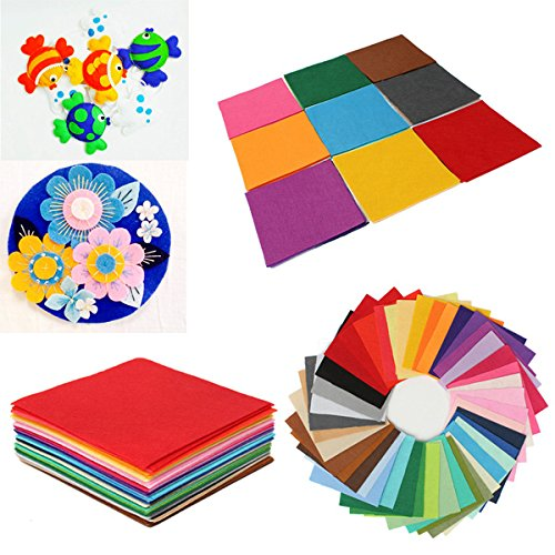 Bluelover 30x30cm piazze Non tessuta tessuto feltro fogli per fai da TE arte artigianato Scrapbooks-serie rossa