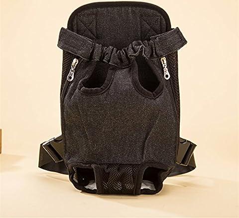 KAI-Poitrine animaux petits chiens forfait forfait réalisation chiens et chats Mimi sacs à dos?14X7X28cm?black