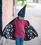 Unbekannt Giochi, divertimento, festa, compleanno, carnevale - costume da mago, travestimento, maschera - reversibile, blu con stelle - scuola di magia - Harry Potter