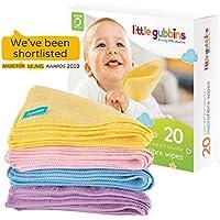 20 toallitas para bebé MICROFIBRA de Little Gubbins   Paquete de paños secos ...