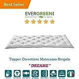 EvergreenWeb Futon Matelas simple, matelassé tissu confortable et enveloppante, excellent comme lit Salvaspazio, ou comme pratique Topper Matelas. Adapté à tous les usages. Col. Blanc–pillowt