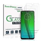 Moto G7 et Moto G7 Plus Verre Trempé Protection écran (3 Pièces), amFilm Protecteur D'écran pour Motorola Moto G7 et G7 Plus