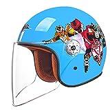 BHJqsy Elektrische Motorrad Helm Moped Kind Halbe Helm Männer Und Frauen Baby Helm Kinder Vier Jahreszeiten Universale (Farbe : 5#)