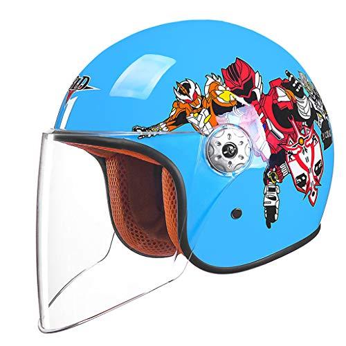 ZXW Elektrische Motorrad Helm Moped Kind Halbe Helm Männer Und Frauen Baby Helm Kinder Vier Jahreszeiten Universale (Farbe : E, größe : L26*H23cm)