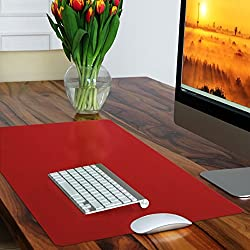 Casa Pura Non-slip Red Desk Mat | Desk Pad With Smooth Surface | 50x65cm (1.6'x2') | Pvc & Phthalate Free | In 10 Colours
