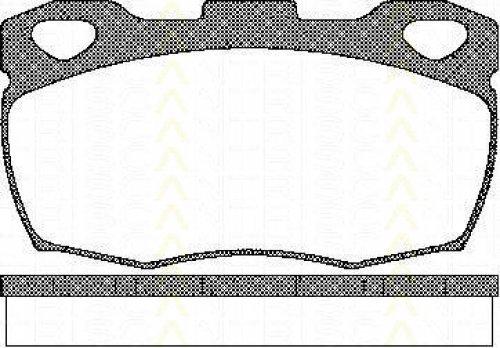 Triscan 8110 17003 - Kit Pastiglie Freno, Freno A Disco
