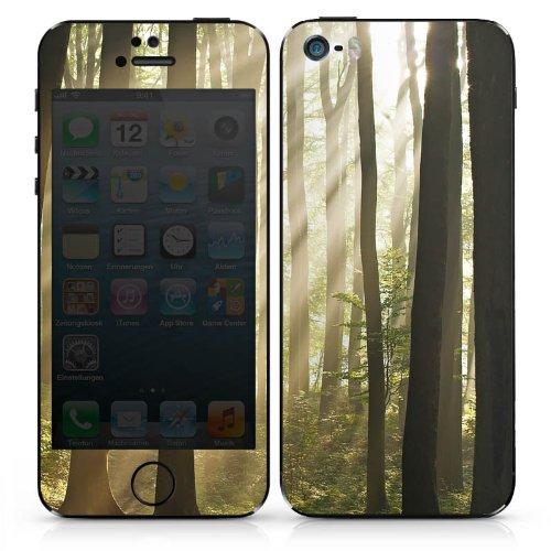 Apple iPhone 5s Case Skin Sticker aus Vinyl-Folie Aufkleber Wald Lichtung Sonnenstrahlen DesignSkins® glänzend