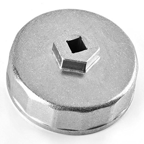 Magiin Llave para Filtro de Aceite 74mm Llave de Filtro de Aceite Coche 14 Flautas