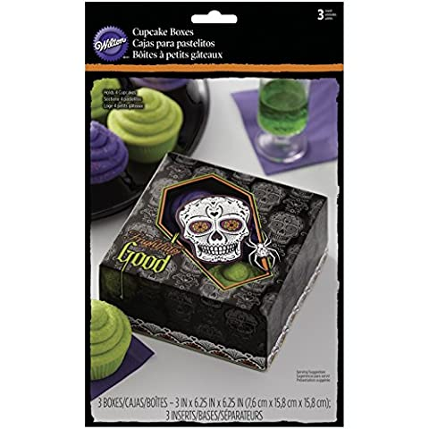 Wilton Cupcake Boxes 4 Cavity 3/Pkg-Deadly Soiree, Other, Multicoloured