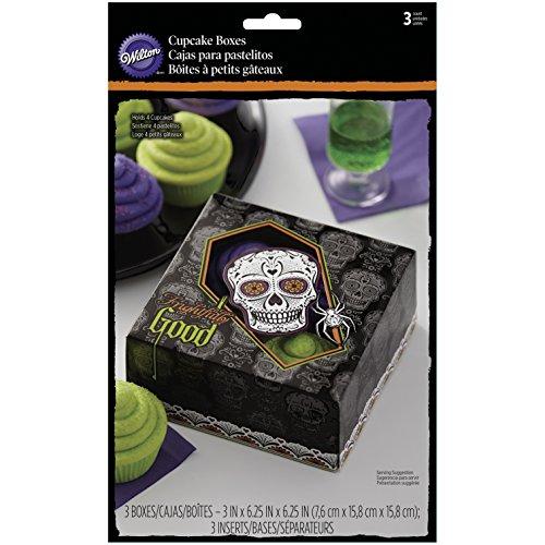 Wilton Cupcake Schachteln 4Hohlraum, 3/pkg-deadly Soiree, andere, mehrfarbig