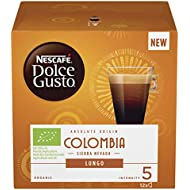 NESCAFÉ DOLCE GUSTO Colombia Sierra Nevada Lungo Coffee Pods, 12 Capsules (12 Servings)