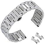 19mm Edelstahl Uhrenarmbänder Ersatzarmband Verschluss Gurtringe Gurt Armband Wristband Bügel