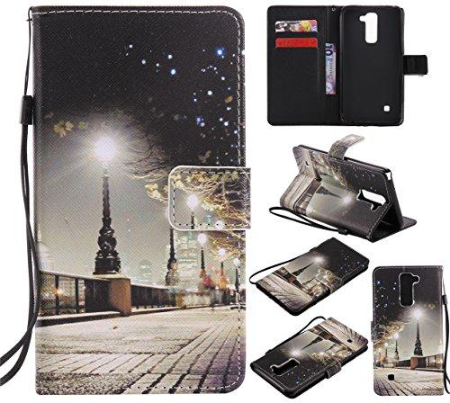 Nancen Compatible with Handyhülle LG G Stylo 2 / LG Stylus 2 / LG Stylus 2 Plus LS775 K520 Hülle / Handyhülle, Painted PU Leder Tasche Schutzhülle Case [Nacht]