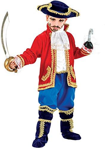 AV1059-6 - Kinderkostüm CAPITANO BABY - Alter: 1-6 Jahre - Größe: 6 (Baby Peter Pan Kostüme)