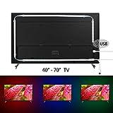 kivvo TV Hintergrundbeleuchtung RGB LED Strip Lights (203,2cm) Kit USB mit Fernbedienung (44KEYS mit Custom Farbe Funktion)