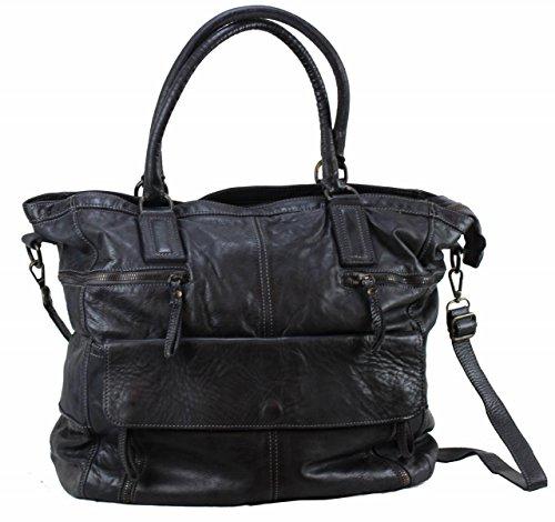 BZNA Bag Boney nero Italy Designer Damen Handtasche Schultertasche Tasche Leder Shopper Neu