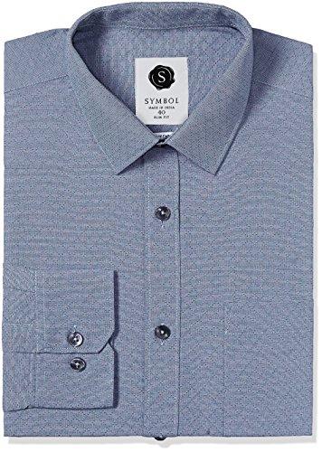 Symbol Men's Formal Dobby Slim Fit Shirt