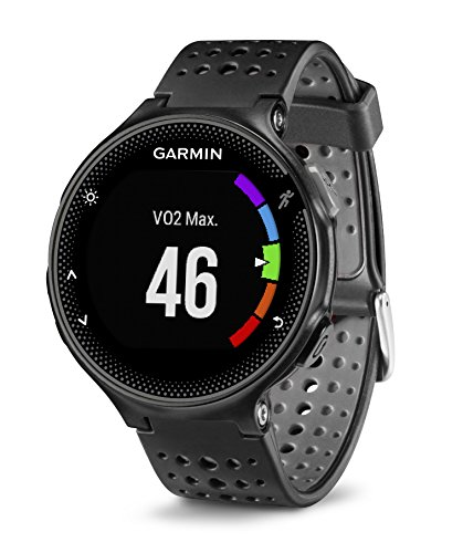 Garmin Forerunner 235 GPS Running Watch with Elevate Wrist Heart Rate and Smart Notifications – Black/Grey