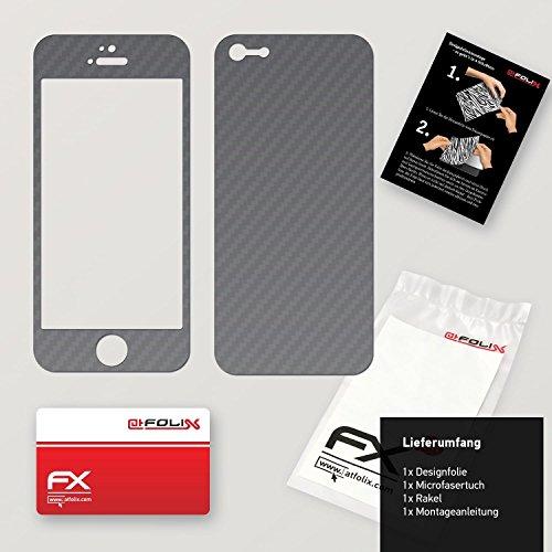 """Skin Apple iPhone 5C """"FX-Carbon-Black"""" Designfolie Sticker FX-Carbon-Silverdark"""