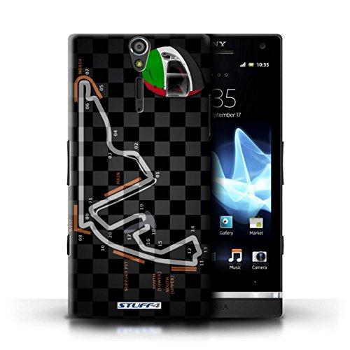 Kobalt® Imprimé Etui / Coque pour Sony Xperia S/LT26i / Russie/Sochi conception / Série 2014 F1 Piste Abu Dhabi/Yas Marina