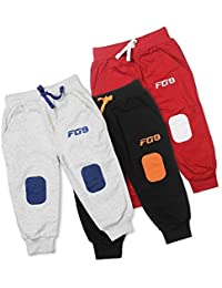 8564f9ea549 Finger s Pack of 3 Knitted Boys Girls Kids Joggers Sweatpants Cotton Track  Pants Pajamas with Knee