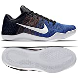 NIKE Herren Kobe XI Elite Low BHM Basketballschuhe, Blau/Orange / Schwarz (Multi-Color/Weiß-Game Royal), 45 EU