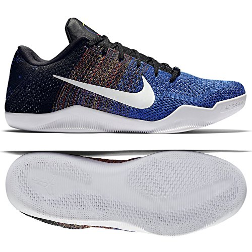 buy popular 30da4 4f328 Nike Kobe XI Elite Low BHM 822522-914 WhiteRoyal Flyknit Mens Basketball  Shoes