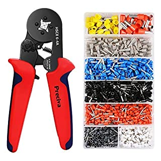 Preciva CP621200 AWG 23-10 Crimper Plier Set Self-adjustable Ratchat Wire Crimping Tool