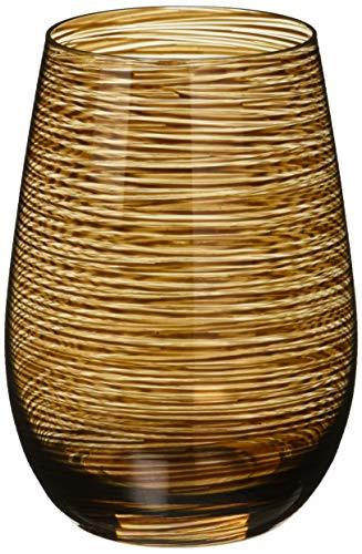 Stölzle Lausitz Twister Becher in braun, 465 ml, 6er Set Gläser, spülmaschinenfest, Bunte Trinkbecher, hochwertige Qualität -
