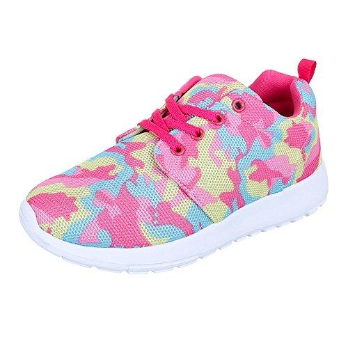 Damen Schuhe Trendige Sportschuhe Freizeitschuhe Rosa Multi 1