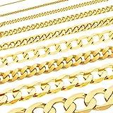 Massive edle Goldkette Panzerkette Halskette Collier Echt 333 Gold (45, 0,8 mm)