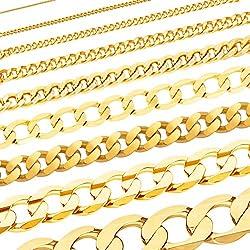 Massive edle Goldkette Panzerkette Halskette Collier Echt 333 Gold (40, 0,8 mm)