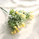 Clearance!! Milan Yangmei Floral Artificial Fake Flowers Wedding Bouquet Home Decor (Yellow)