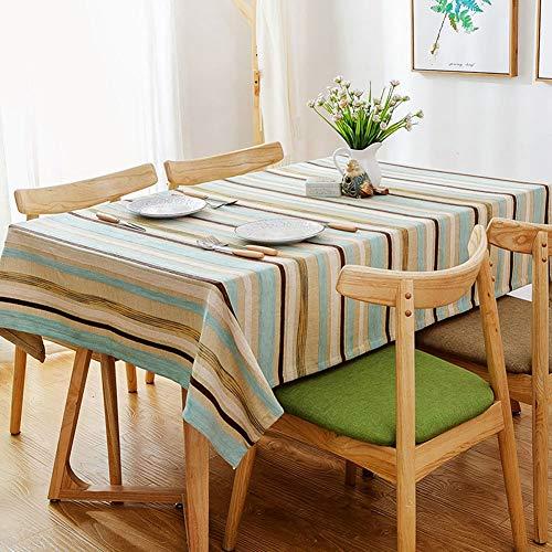 DHMHJH-nappes Nappe - rectangulaire en Coton méditerranéen et Lin Petit Linge de Table Frais - Multi-Dimensions en Option (Taille : 130×240cm)